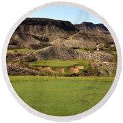 Black Jack's Crossing Golf Course Hole 13 Round Beach Towel