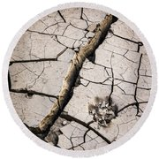 Blair Cracked Mud 1685 Round Beach Towel