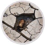 Blair Cracked Mud 1695 Round Beach Towel