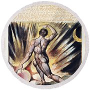 Blake: Jerusalem, 1804 Round Beach Towel