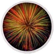Blooming Fireworks Round Beach Towel