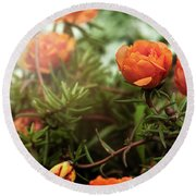 Blossomed Round Beach Towel