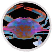 Blue Crab, X-ray Round Beach Towel