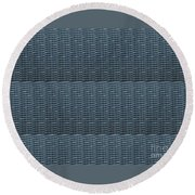 Blue Grey Line Texture Color Shade And Pattern Created By Navinjoshi At Fineartamerica.com Ideal For Round Beach Towel