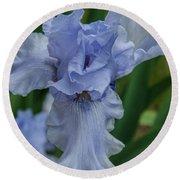Blue Iris 2 Round Beach Towel