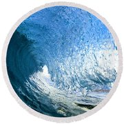 Blue Sleeve  - Triptych   Part 1of 3 Round Beach Towel