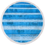 Blue Steps Round Beach Towel