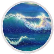 Blue Thunder Round Beach Towel