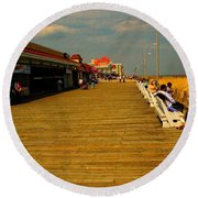 Boardwalk Round Beach Towel