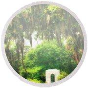 Bonaventure Cemetery Savannah Ga Round Beach Towel by William Dey