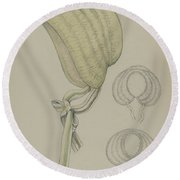 Bonnet Round Beach Towel