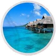 Bora Bora Lagoon Resort Round Beach Towel