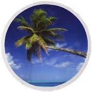 Bora Bora, Palm Tree Round Beach Towel