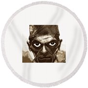 Boris Karloff  Round Beach Towel