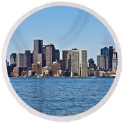 Boston Mar142 Round Beach Towel