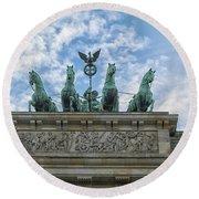 Brandenburger Gate, Berlin Round Beach Towel