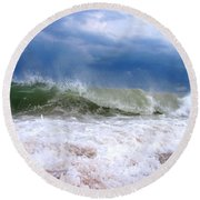 Breaking Round Beach Towel