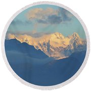 Breathtaking Landscape Of The Dolomites Mountains In Italy  Round Beach Towel