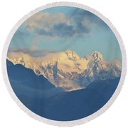 Breathtaking Scenic View Of The Alps In Italy  Round Beach Towel