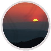 Breathtaking Sunset At Tatra Mountains, Carpathian Region, Poland Round Beach Towel