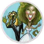 Bridezilla Round Beach Towel