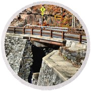 Bridge By Kaaterskill Falls 1 Round Beach Towel