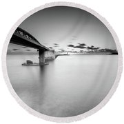 Bridge Round Beach Towel by Okan YILMAZ