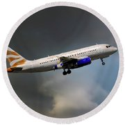 British Airways Airbus A319-131 Round Beach Towel