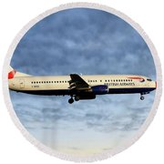 British Airways Boeing 737-436 Round Beach Towel