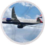 British Airways Boeing 787 Dreamliner Round Beach Towel
