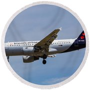 Brussels Airlines Airbus A319 Round Beach Towel