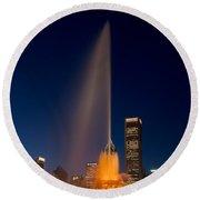 Buckingham Fountain Chicago Round Beach Towel