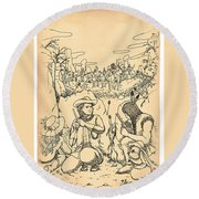 Buffalo Bill And Standing Buffalo Round Beach Towel