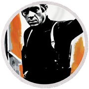 Bullitt Round Beach Towel