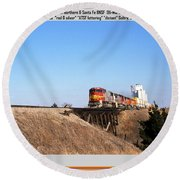 Burlington Northern Santa Fe Bnsf - Railimages@aol.com Round Beach Towel