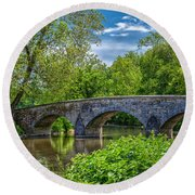 Burnside Bridge, Antietam Round Beach Towel