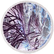 Burst Round Beach Towel