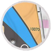Bus Round Beach Towel