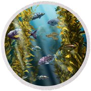 California Kelp Forest Round Beach Towel