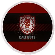Call Of Duty Black Ops Round Beach Towel