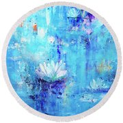Calm In The Storm Round Beach Towel