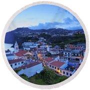 Camara De Lobos, Madeira Round Beach Towel