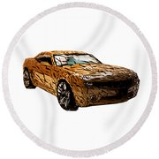 Camaro Round Beach Towel