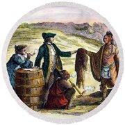 Canada: Fur Traders, 1777 Round Beach Towel