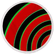 Candid Color 1 Round Beach Towel