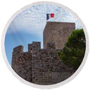 Cannes, French Riviera Round Beach Towel