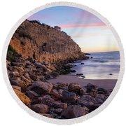 Cap Salou, Spain Round Beach Towel
