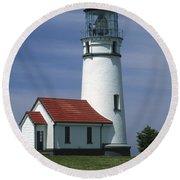 Cape Blanco Lighthouse Round Beach Towel
