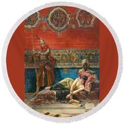 Captive In The Harem Round Beach Towel