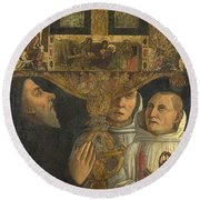 Cardinal Bessarion With The Bessarion Reliquary Round Beach Towel